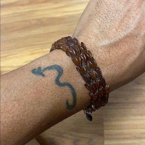Coconut shell  adjustable bracelet